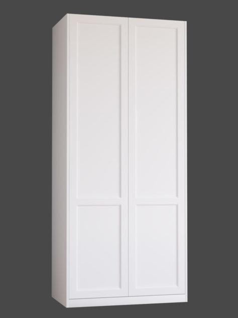 Shaker 3.2 (Shaker 3 kahe raamiga) uksed PAX garderoobikappidel.