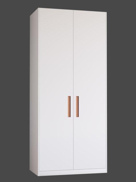 Slät dörr med grepp 1 till Ikea Pax-stomme.