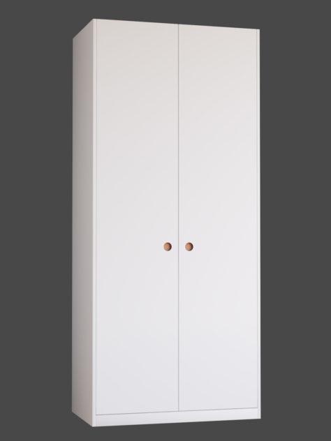 Slät dörr med grepp 2 till Ikea Pax-stomme.